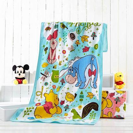 Disney 迪士尼 维尼熊森林派对纯棉儿童卡通大毛巾浴巾亚博体育app下载地址