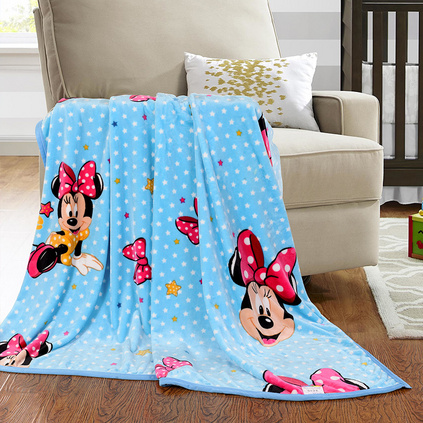 Disney 迪士尼 卡通法莱绒空调毯午休毯致青米妮毯定制 DSN16-X021