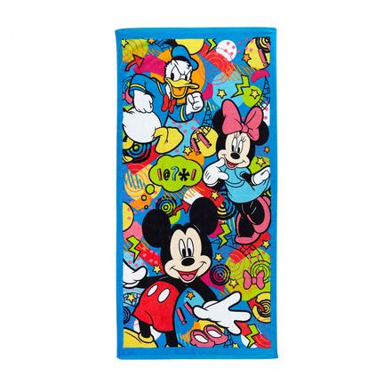 Disney迪士尼米奇活力四射割絨印花面巾柔軟舒適純棉毛巾定制