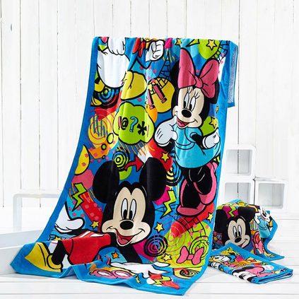 迪士尼Disney米奇活力四射纯棉卡通儿童浴巾夏季成人沙滩巾亚博体育app下载地址