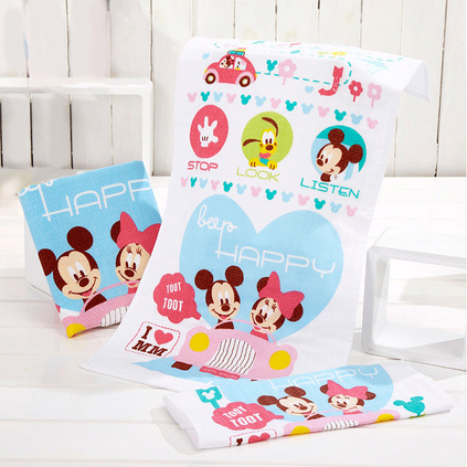 迪士尼Disney米奇愛心之旅毛巾純棉柔軟吸水全棉紗布兒童面巾定制