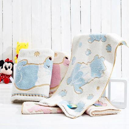 迪士尼Disney純棉維尼熊毛巾柔軟親膚舒適寶寶毛巾定制 一條裝