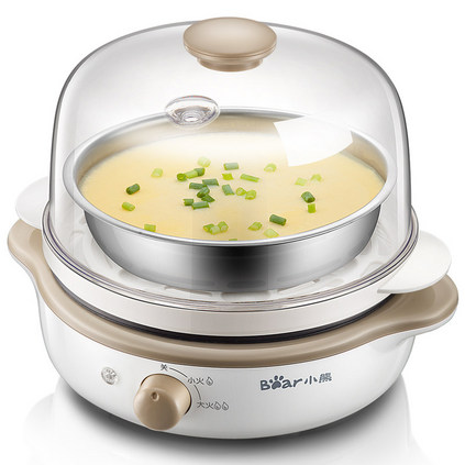 Bear/小熊 ZDQ-B14A1双层大容量煮蛋器自动断电全不锈钢底蒸蛋器定制