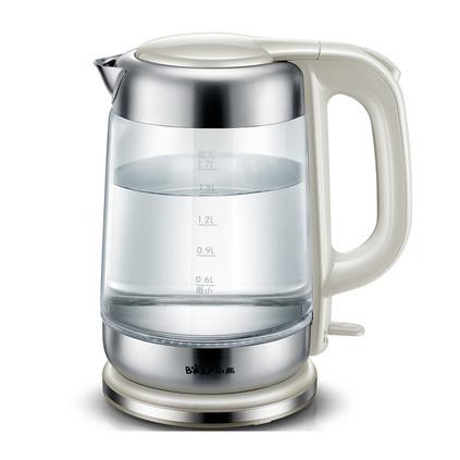 Bear/小熊 ZDH-A17G5家用304不锈钢玻璃烧水壶 自动断电电热水壶定制