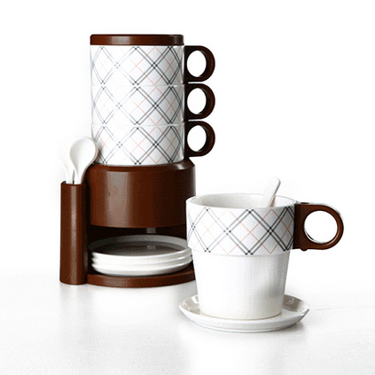 TAYOHYA 多样屋 简单简约风格格纹精致杯组定制 TA210203026GQ