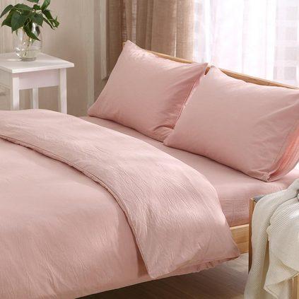 潔帛 純色水洗棉純棉四件套 適合1.5&1.8m床用 家紡用品定制