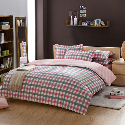 洁帛 都市丽人 斜纹印花纯棉四件套 适合1.5m和1.8m床品件套家纺用品定制