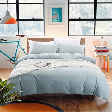 潔帛 靜純青水洗棉純棉四件套 適合1.5和1.8m床使用床品定制