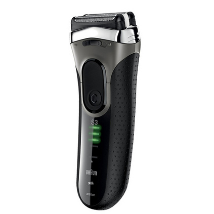 BRAUN 博朗 3系電動剃須刀定制 充電往復式水洗刮胡須刀 3090CC