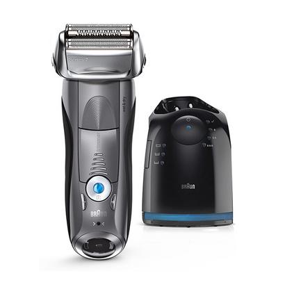 BRAUN 博朗 電動剃須刀定制 男士全身水洗干濕兩用充電往復式刮胡刀 7865cc