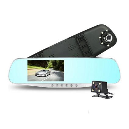 E途 C10雙鏡頭1200萬像素 后視鏡行車記錄儀( 贈8G TF卡)定制