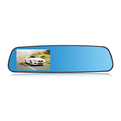 E途  F600藍鏡高清后視鏡行車記錄儀定制