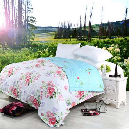 MERCURY 水星家紡 可水洗空調被夏涼被薄被 芬芳季節全棉夏季床上用品定制 108446