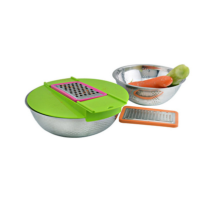Debo 德鉑 卡普爾廚房用具定制 洗米刨絲過濾洗菜22cm、24cm多用實用 DEP-205