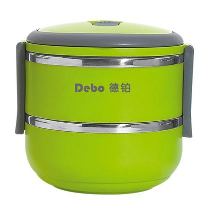 Debo 德鉑 卡洛琳-A 保溫飯盒定制 保溫飯盒雙層分格學生不銹鋼餐盒1.4L  DEP-73
