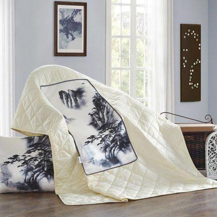 洁帛 冰丝夏凉抱枕被空调被靠垫办公室午休被定制