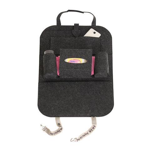 洁帛  两种尺寸车用多功能置物袋座椅后背杂物储物挂袋定制