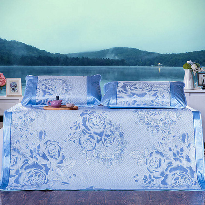 洁帛 透气冰丝双人凉席夏季床上用品套装定制