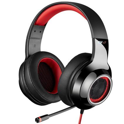 EDIFIER 漫步者 黑夜之神 G4 USB7.1声道头戴式游戏耳机线控电脑耳游戏耳机麦手机耳机定制