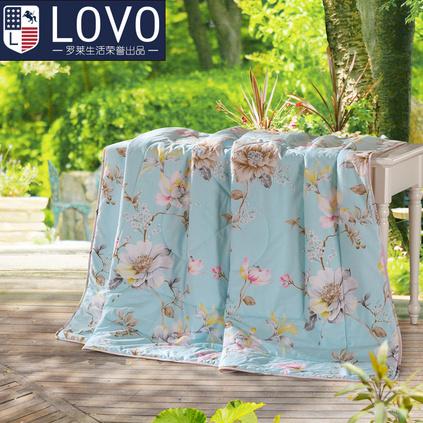 罗莱家纺LOVO罗莱纯棉可水洗夏被空调夏凉被定制