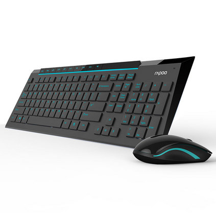 雷柏8200P 無線鼠標鍵盤套裝定制  靜音防水省電 電腦游戲輕薄無線鍵鼠