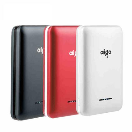 Aigo爱国者移动电源10000毫安 手机通用充电宝可爱便携小巧S3定制