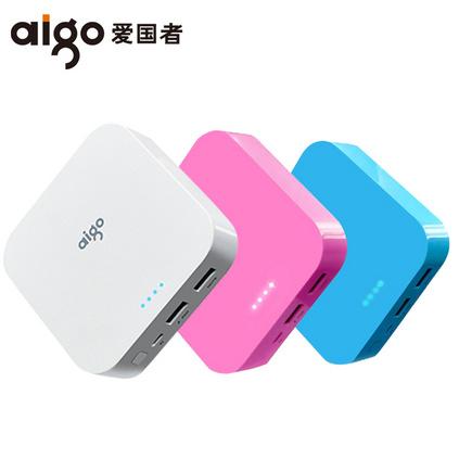 爱国者aigo10000毫安手机便携通用充电宝OL10400迷你移动电源定制