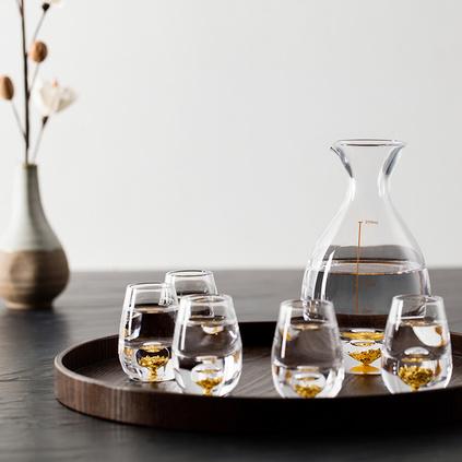 ABS愛彼此 Gold金箔系列水晶玻璃白酒杯7件禮盒裝定制