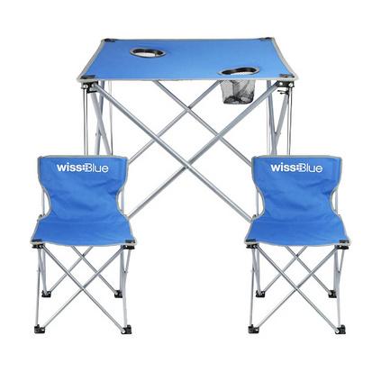 Wissblue 维仕蓝 WDT9100-B户外便携野餐露营折叠桌椅套装定制