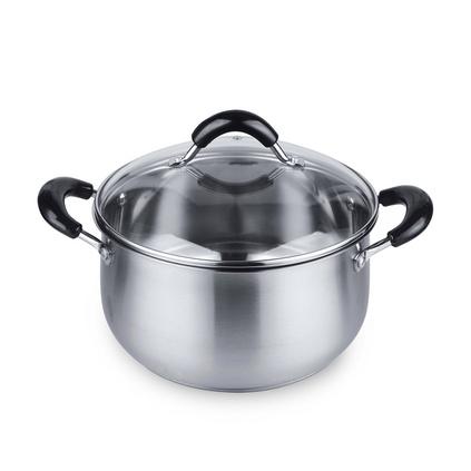 ASD愛仕達不銹鋼湯鍋禮品定制TG61724復底加厚電磁爐明火通用燉湯鍋