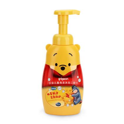 pigeon 貝親 兒童洗發沐浴2合1定制 二合一寶寶無淚泡沫洗發水沐浴液 泡沫型 IA82