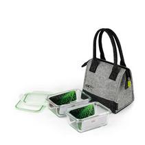 FORUOR I DO時尚環保兩入鋼化玻璃飯盒附毛氈布便當包定制