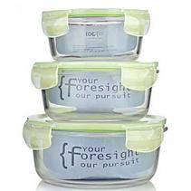 法國品牌FORUOR-I DO 耐熱玻璃保鮮盒三件套定制 可當水果盒可微波