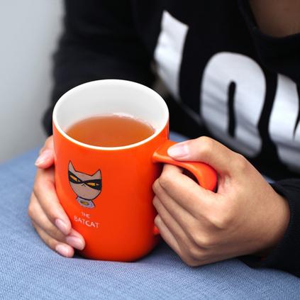 臺灣artiart英雄三件杯食品級陶瓷泡茶杯水杯馬克杯不銹鋼濾茶器定制