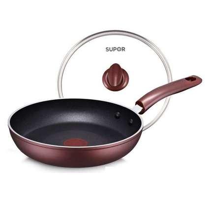 蘇泊爾新一代火紅點無油煙不粘煎鍋炒鍋燃氣電磁灶通用PJ28K4定制
