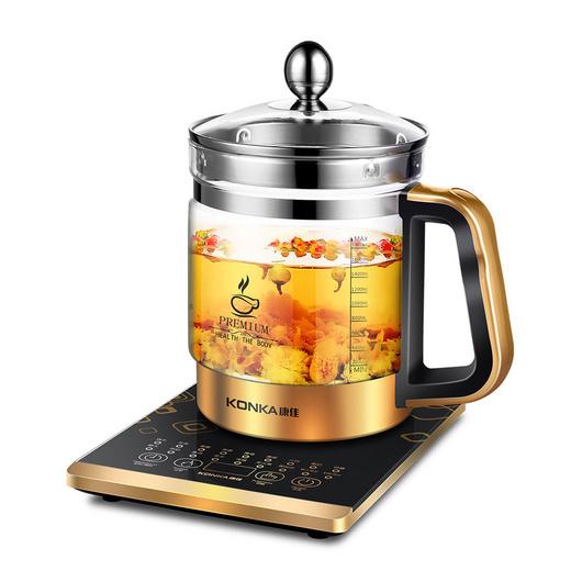 KONKA康佳金芝靈1.8L全自動加厚多功能電熱水壺養生壺定制KGYS-1830D 黑金色