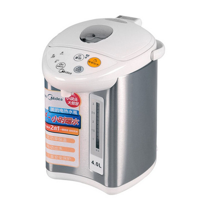 Midea 美的 电热水瓶 自动?#31995;?#39135;品304不锈钢防烫电热水壶 PF501-40G定制