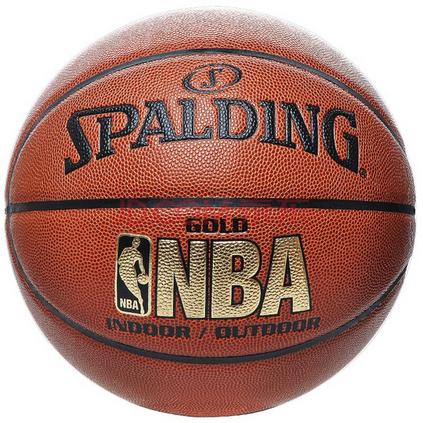 Spalding 斯伯丁 64-284/74-606Y NBA金色经典系列 耐磨防滑 室内外兼用 品质篮球定制