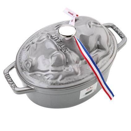 双立人Staub珐琅铸铁小猪炖锅17cm不粘锅煲汤锅焖烧锅电磁炉锅定制