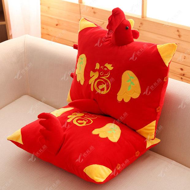鸡年吉祥物靠垫