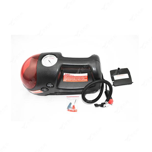 红色圆头汽车充气泵