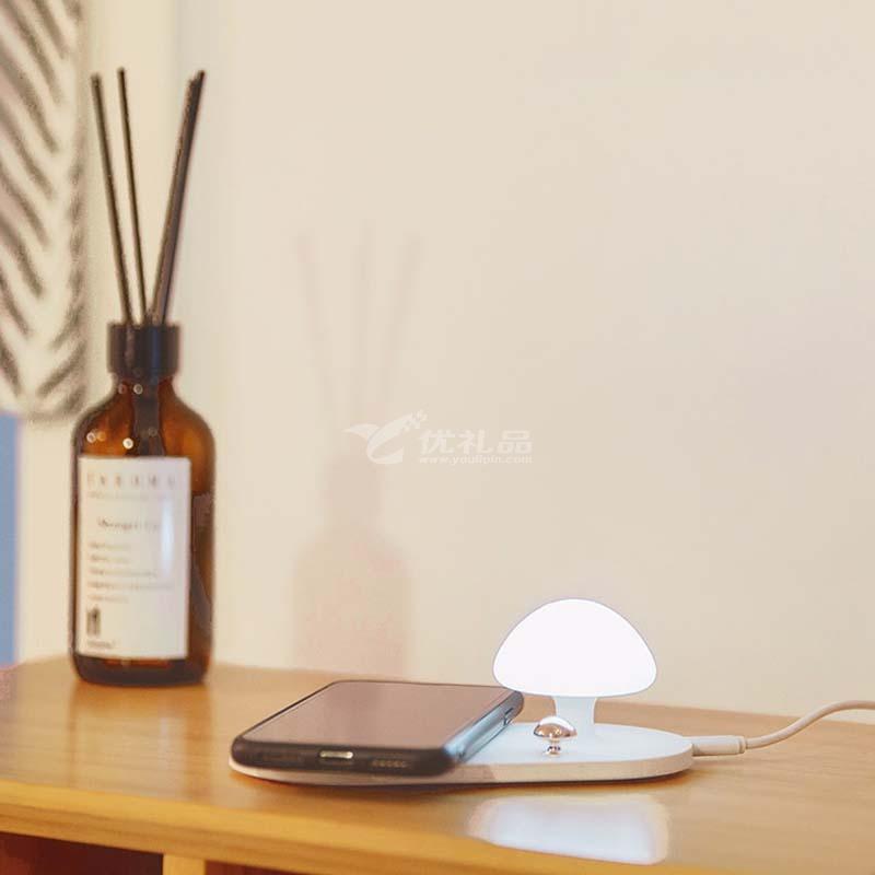 蘑菇无线充小夜灯