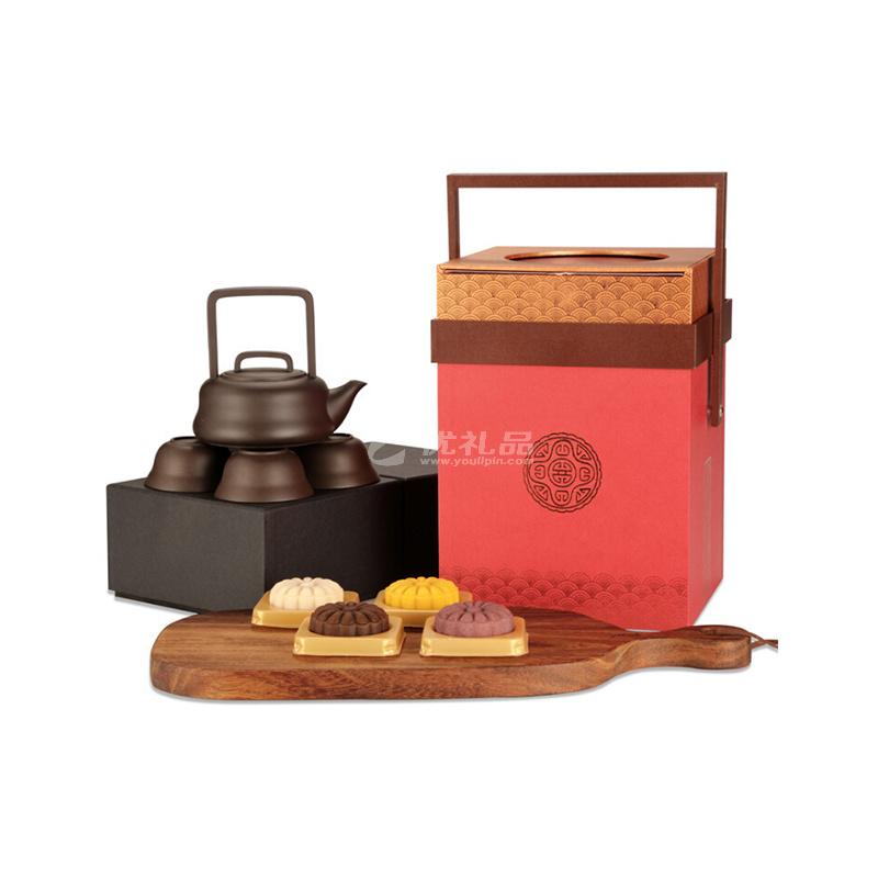 高端茶具+月饼礼盒
