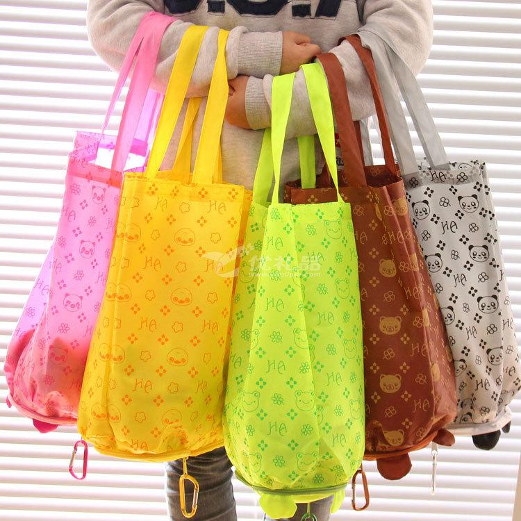 可爱卡通折叠购物袋