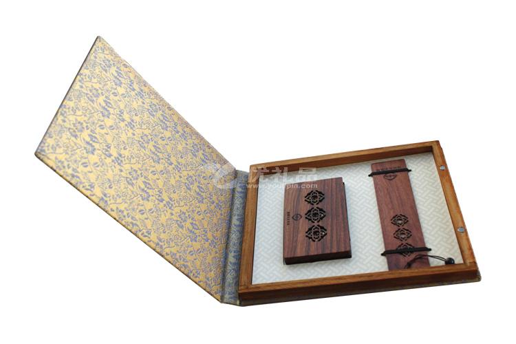 高檔窗欞書簽名片夾禮盒套裝_1