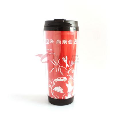 双层塑料星巴克杯(可换彩页)350ML