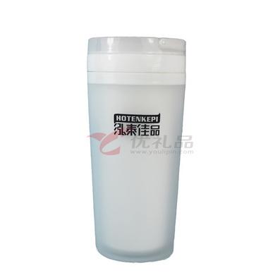4819   雙層平蓋磨紗密封保溫杯(400ML)