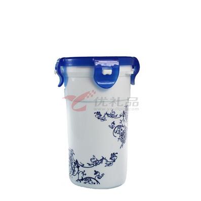 青花瓷平盖密封杯