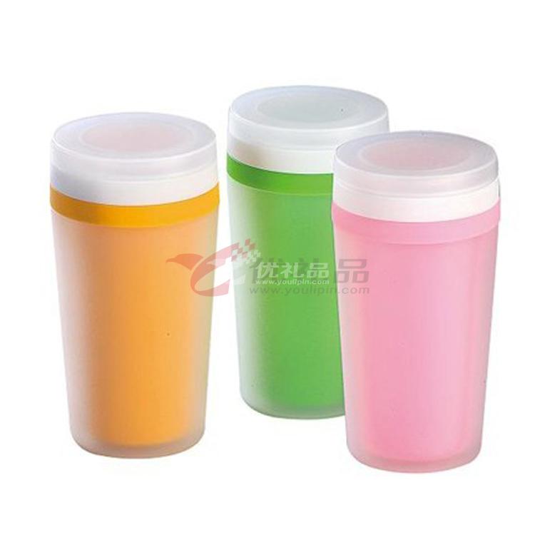 圓形雙層杯 小號雙層雙蓋杯
