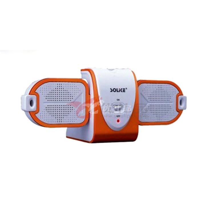 MP3MP4和手提电脑均可使用的便携式小音箱。